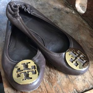 Tory Burch Brown Leather Ballet Flat Size 5.5